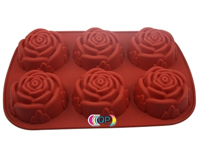 soap molds for soap decoration 6 big roses