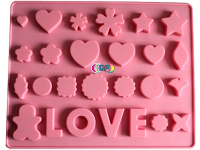 soap molds for soap decoration hearts & stars