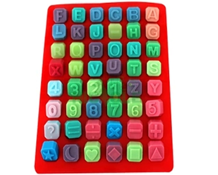 Soap molds alphabet