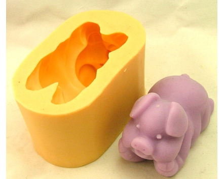 3d soap molds silicone pig QP0080s